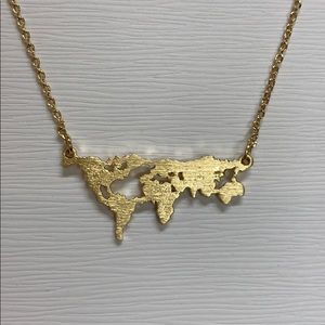 girly Jewelry - World Map 🌎 Necklace